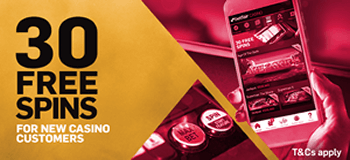BETFAIR CASINO - 30 FREE SPINS